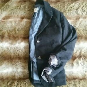 Grey Wool Academy Blazer
